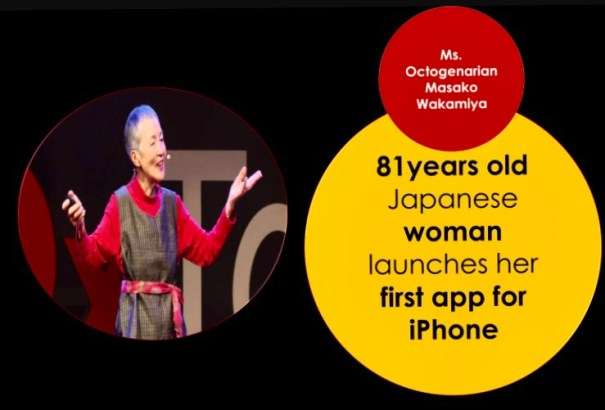 Masako Wakamiy on stage