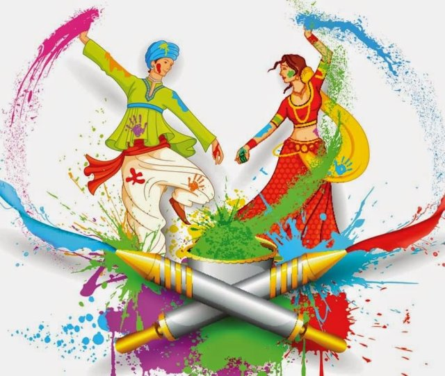 Happy Holi Boy And Girl Playing Holi Wallpaper