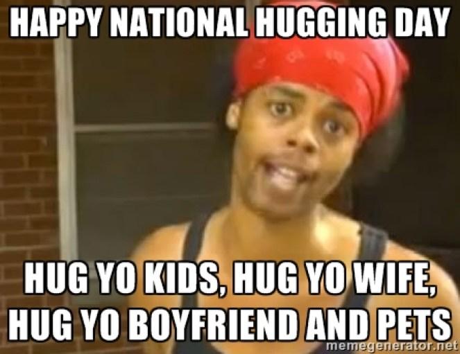 Happy National Hug Day Meme Face