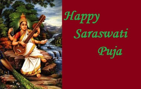 Happy Saraswati Puja Greetings