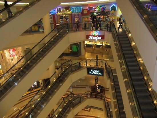 Escalators Inside Petronas Towers