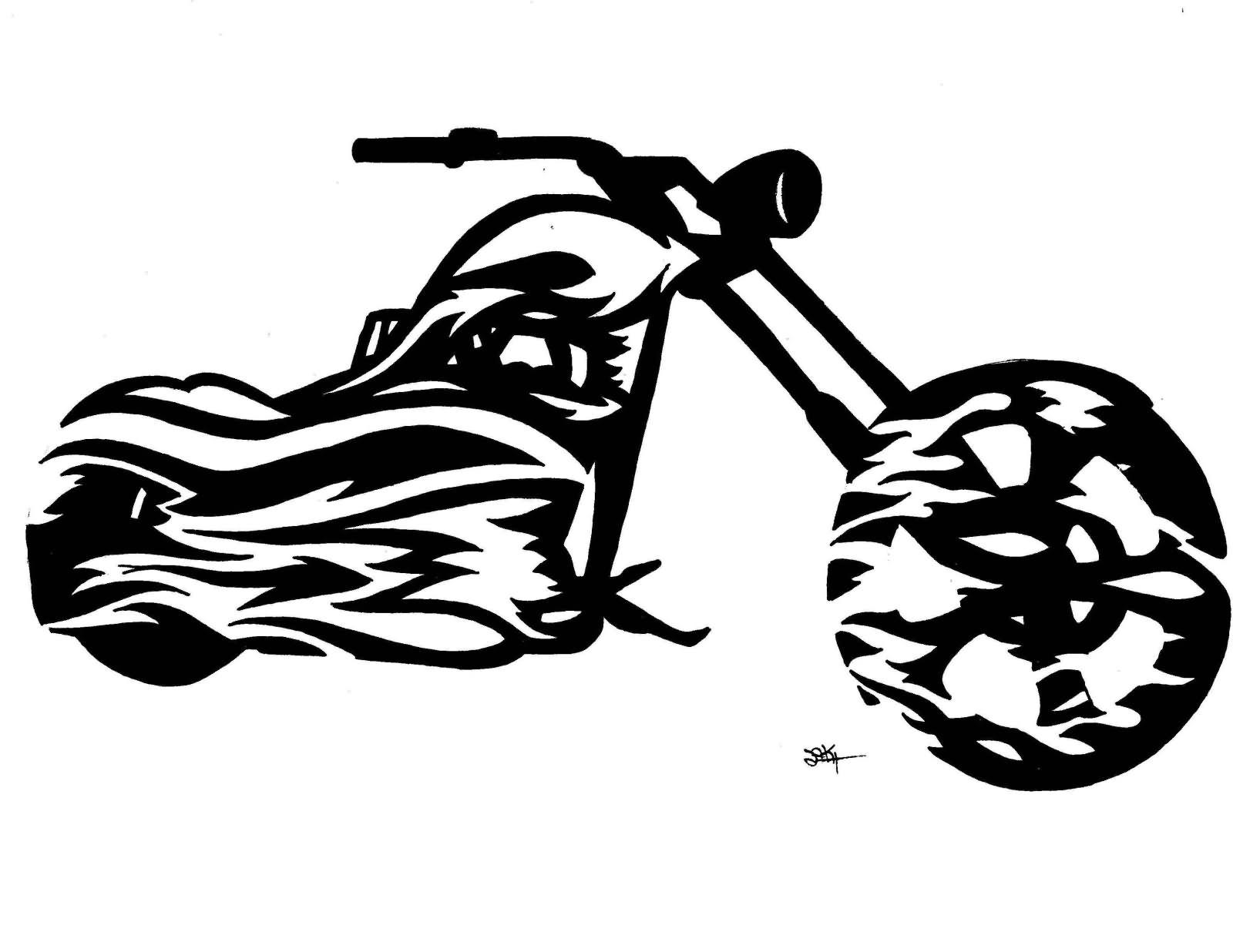 Motorcycle Tattoo Art Designs
