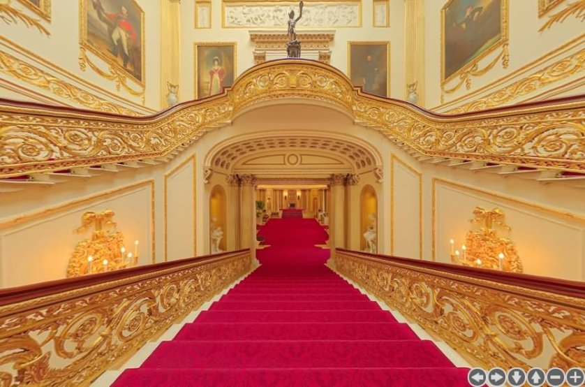 The Grand Staircase Inside The Buckingham Palace - THE MOST BEAUTIFUL INTERIOR PICTURES OF BUCKINGHAM PALACE LONDON