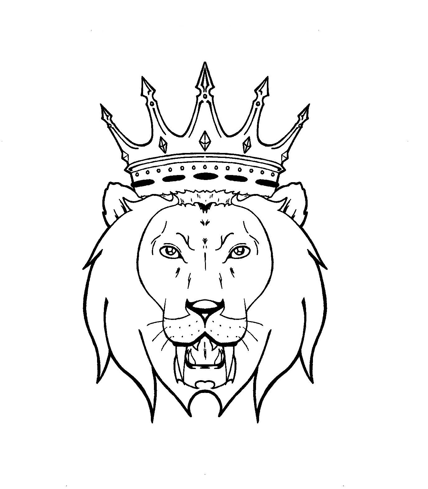 Lion Crown Tattoo Drawings