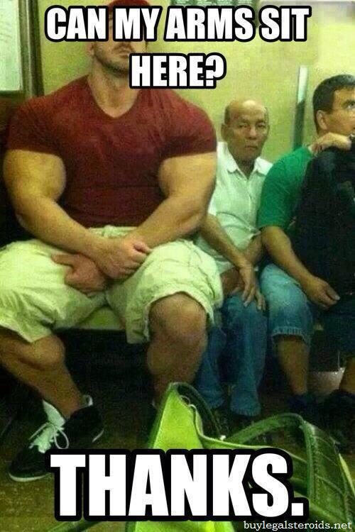 Can My Arms Sit Here Funny Muscle Meme Image