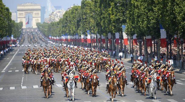 Bastille Day Parade At The Arc de Triomphe In Paris