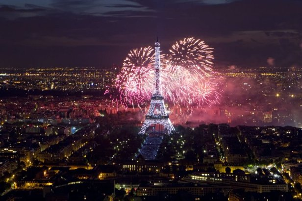 Celebrate The Bastille Day Fireworks Over The Eiffel Tower