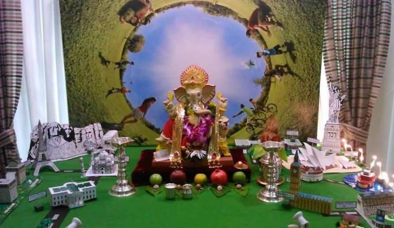Eco Friendly Ganesh Chaturthi Decoration Picture