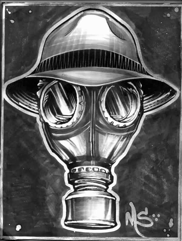 15 Gas Mask Tattoo Design