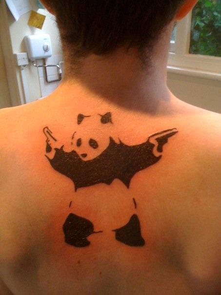 12 Fantastic Panda Shoulder Tattoos