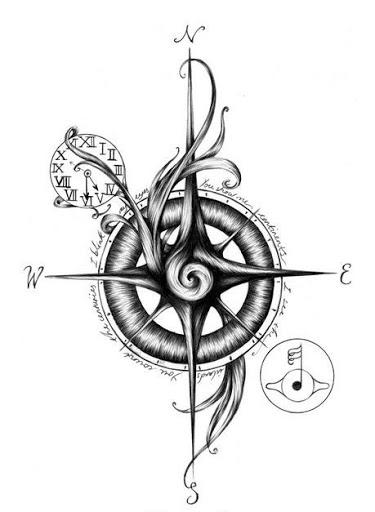 Best Compass Tattoo Design Idea