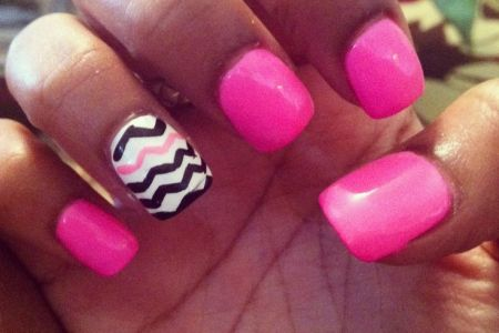 Hot Pink And White Nails Full Hd Maps Locations Another World