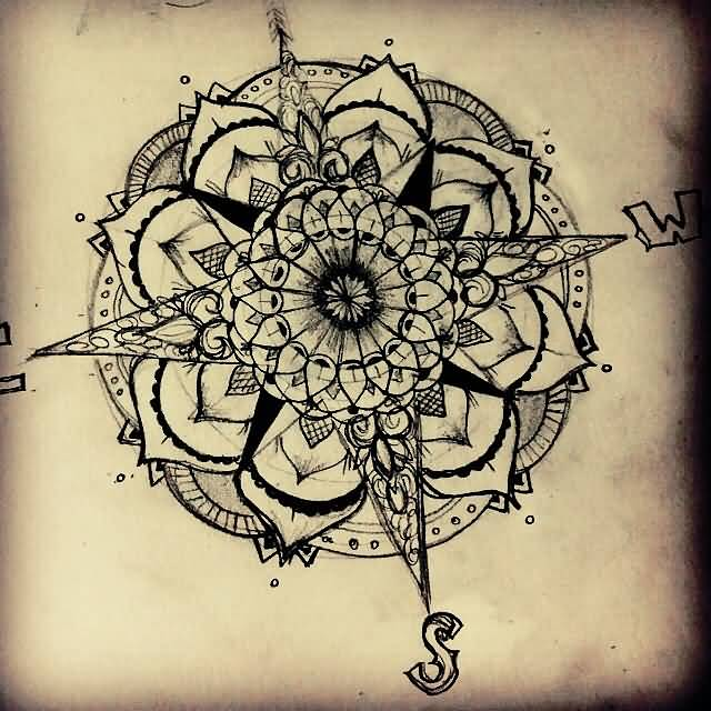 30 Latest Compass Tattoo Designs