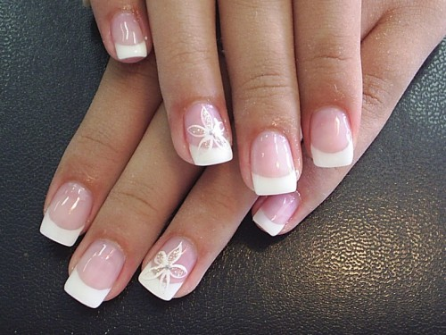 55 Most Stylish French Tip Nail Art Designs
