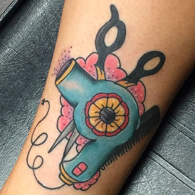 4 Blow Dryer Tattoo Designs