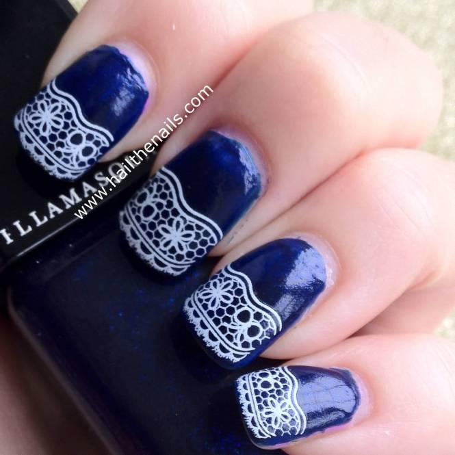 Ideas For Navy Blue Nail Art