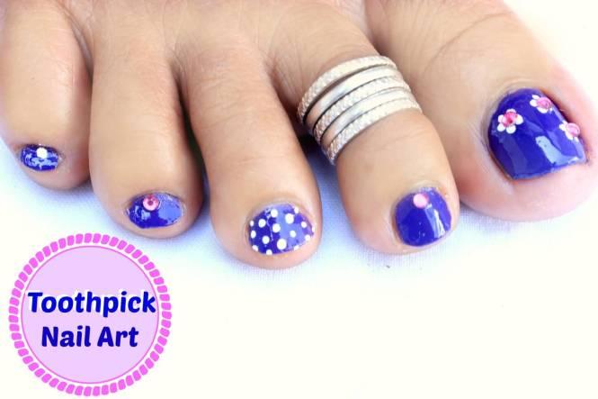 Glitter Mix Toe Nails