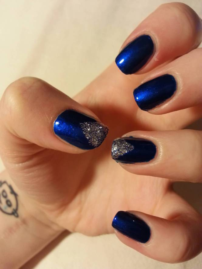 Ideas For Navy Blue Nail Art
