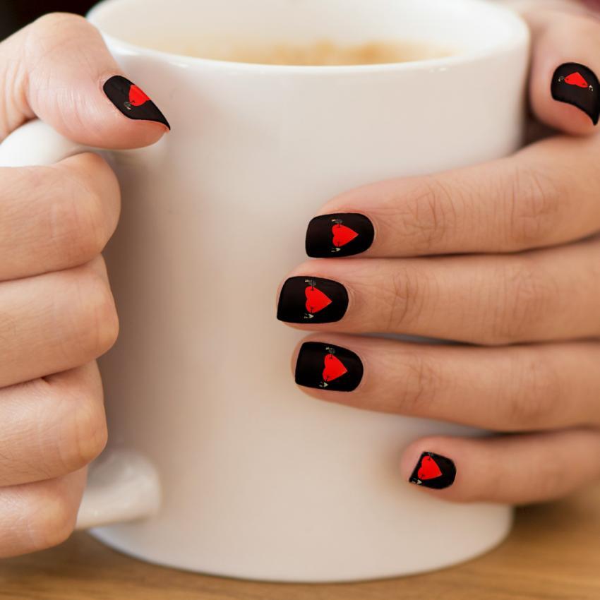 60 Latest Heart Nail Art Designs