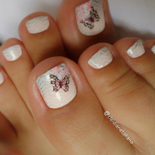 Erfly Toe Nail Art Design Idea