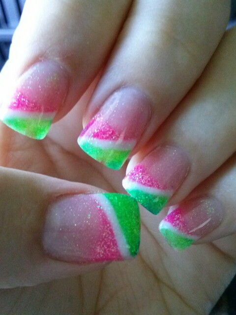 White Tips Pink Fl Nail Art Designs For Prom 2016