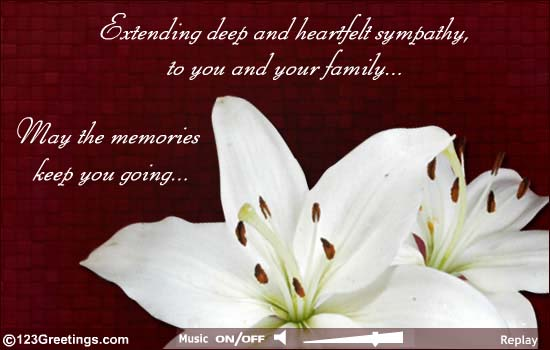 Deepest Sympathy Your You Family Our And And Condolences