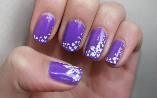 22 Purple Nails Showing Support For The Military With This Camouflage Nail Art Design
