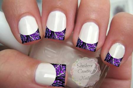 Purple And White Nails Path Decorations Pictures Full Path