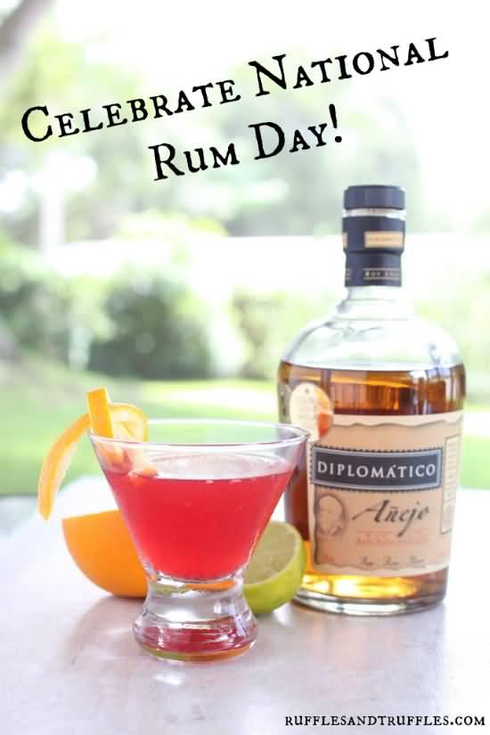 Celebrate National Rum Day Greetings Image