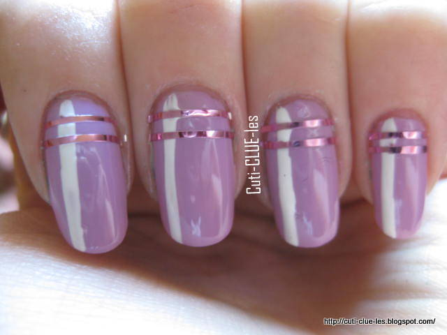 Nail Art With Tape Strips Best Striping Design Ideas