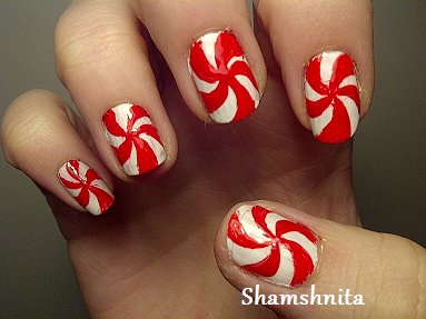 Candy Cane Nail Art Designs Best Nails Ideas Prinsesfo Image Collections