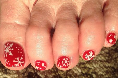 Christmas Toe Nail Art Gallery Nailarts Ideas
