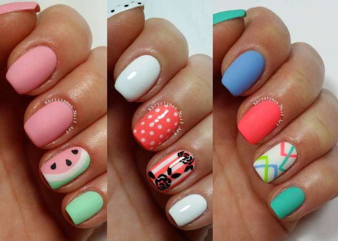 Simple Nail Art On Dailymotion Easy Designs