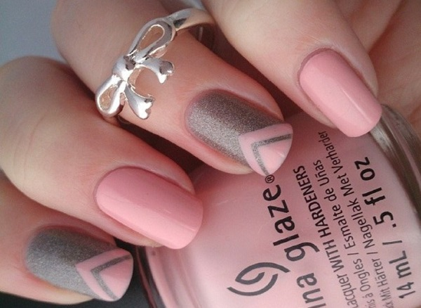 55 Most Beautiful Gray Nail Art Design Ideas Cinderella Nails With Pink And Grey