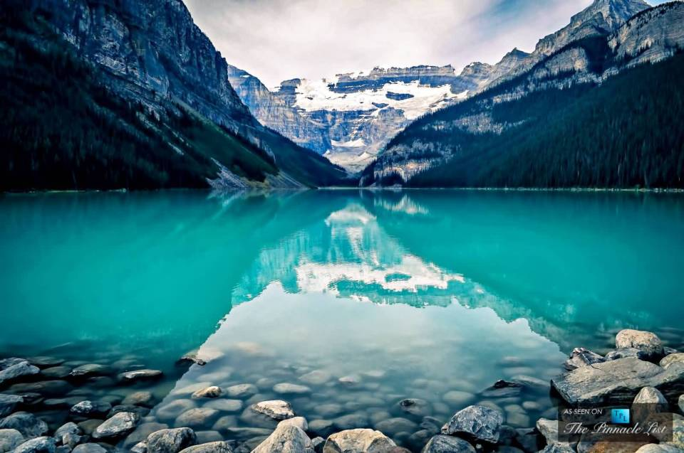 The Marvelous Crystal Blue Lake Louise At Banff National Park In Alberta, Canada