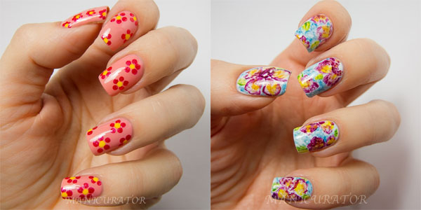 Spring Flowers Nail Art Designs