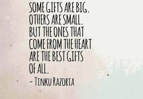Image result for material vs. heart gift quote