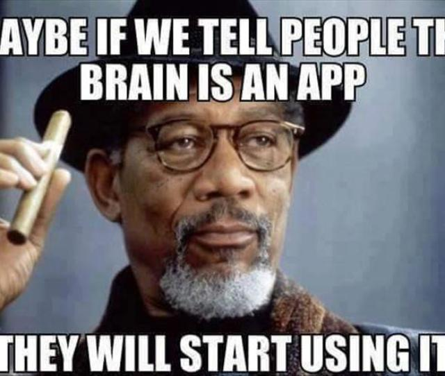 Maybe If We Tell People The Brain Is An App They Will Start Using It Funny Image