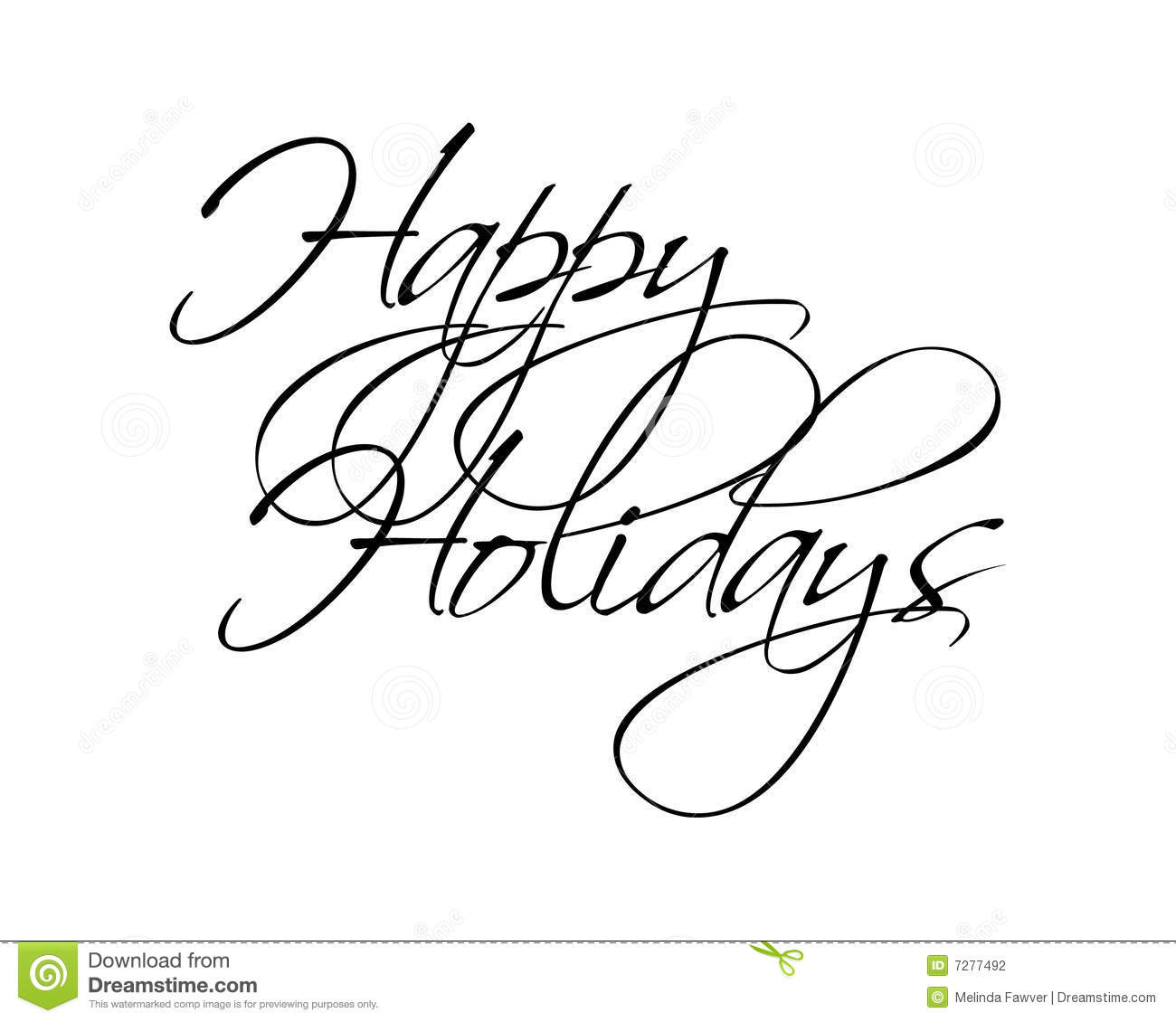 Happy Holidays Black Text Picture