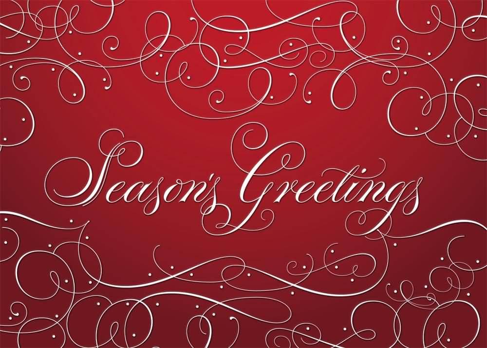 Seasons Greetings Wishing You A Joyous Holiday Season