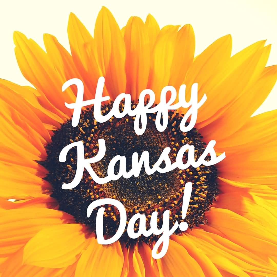 Happy Kansas Day Flower In Background