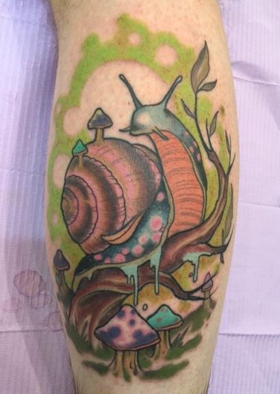 26 Cute Snail Tattoos