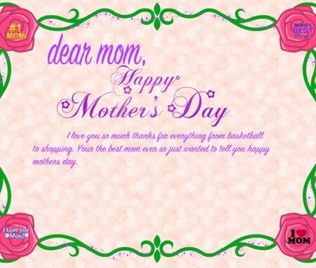 Dear Mom Happy Mothers Day Card
