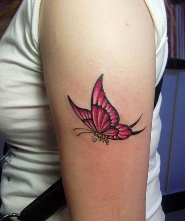 Butterflies Flying Away Tattoo