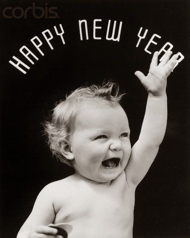 Happy New Year cute baby picture