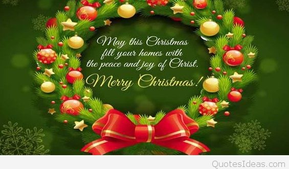 Merry Christmas Wishes With Xmas Tree Image