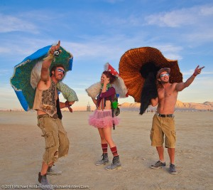 Mushroom People at Burning Man 2010