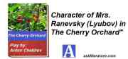 """Character of Mrs. Ranevsky (Lyubov) in """"The Cherry Orchard"""""""