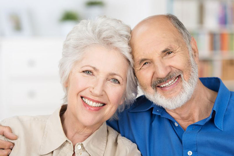 senior smiling couple