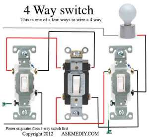 How to install a 4 way switch  AskmeDIY